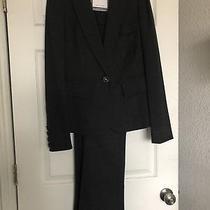 Diane Von Furstenberg Wool Gray Jacket Pant Suit Size 10 Photo