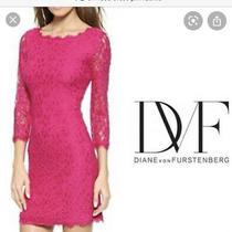 Diane Von Furstenberg Zarita Dress Pink 14 Photo