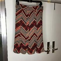 Diane Vonfurstenberg Camel Black Red Skirt Size 10  Photo