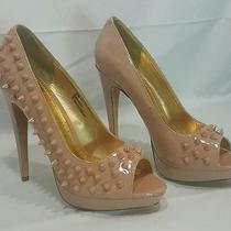Diba Blush Pink Peep Toe Spiked Platform High Heel Stiletto Pump Sz 9.5 Nwob Photo