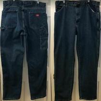 Dickie's Men's Denim Blue Carpenter Jeans Work Pants 38 X 34 Photo