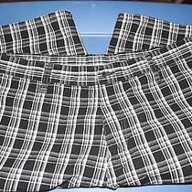 Dickie's Shorts Black/white Plaid With Cell Phone Pocket Size 36 Photo