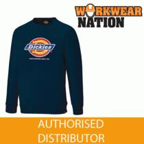 Dickies 22 Longton Graphic Logo Sweatshirt Jumper Navy Blue Photo