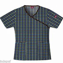Dickies 82700 Mock Wrap Scrub Top Nwt My Lucky Charm Medium Free Ship Scrubs  Photo