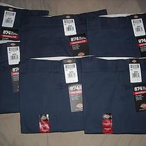 Dickies 874 Pants Men's Original Fit Classic Fit Navy 36x32 Photo