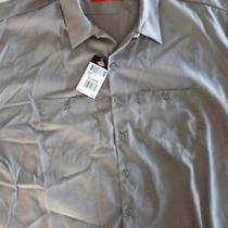 Dickies Big Men's  Gray  Short Sleeve  Polyester/cotton  Work Shirt 5xl Nwt Photo