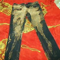 Dickies Black Bleached Painted Jeans (Jr Sz 11 ) Photo