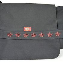 Dickies Black Red Star Messenger Laptop Computer Student Bag Photo