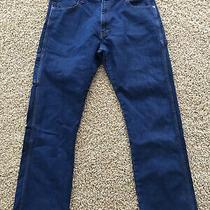 Dickies Blue Denim Flex Carpenter Jeans Relaxed Fit Sz 36x34 (Actual 36x32) Photo