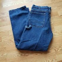 Dickies Blue Denim Jeans Carpenter Size 38 X 32 Measures 38 X 31.5 Photo