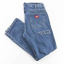Dickies  Blue Denim Regular Straight Jeans Mens W34 L32 Photo