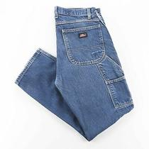 Dickies  Blue Denim Relaxed Straight Jeans Mens W32 L32 Photo