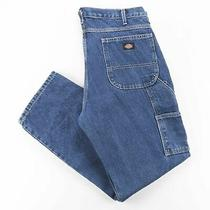 Dickies  Blue Denim Relaxed Straight Jeans Mens W36 L32 Photo
