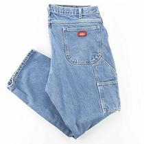 Dickies  Blue Denim Relaxed Straight Jeans Mens W38 L30 Photo