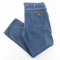 Dickies  Blue Denim Relaxed Straight Jeans Mens W38 L32 Photo