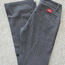 Dickies Bootcut Herringbone Gray Pants Size 1 Photo
