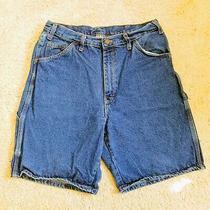 Dickies Carpenter Work Shorts 34 Men's Stonewash Blue Denim 9