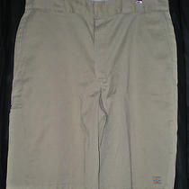 Dickies Cell Phone Pocket Twill Shorts Mens Size 38 Khaki Photo