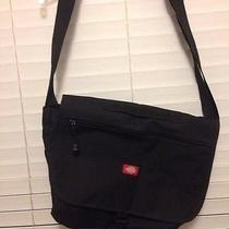 Dickies Classic Black Canvas Book Travel Computer Messenger Shoulder Bag Photo