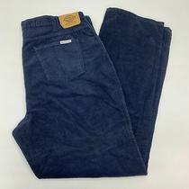 Dickies Corduroy Pants Men's 42x34 Navy 5-Pocket Dark Washed Cotton Blend Casual Photo