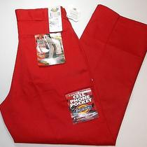 Dickies Double Knee Work Pants Sz 33 X 30 Red Color Nwt Photo
