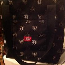 Dickies Double Strap Extra Heavy Canvas Shopping Tote Bag Purse Black Monogram Photo