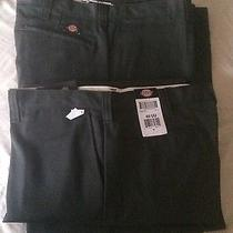 Dickies Green Work Pants (4 Pair) 40x30 With Cell Phone Pocket Photo