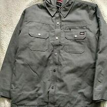 Dickies Jacket Mens Relaxed Fit Icon Hooded Duck Quilted Shirt Jacket Large Gray Photo