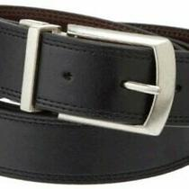 Dickies Men's 1 3/8 In. Leather Reversible Belt With Black/brown Size 3.0 Xkrr Photo