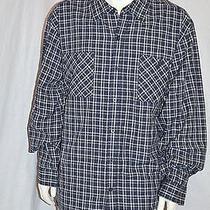 Dickies Men's Blue Plaid Check Western Dress Shirt 4xl Button Up  Photo