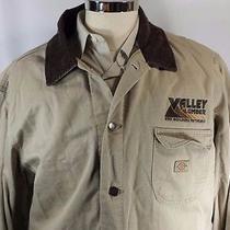Dickies Mens Cotton Barn Coat Jacket Lined Logo Size Xl Photo