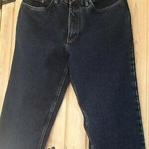 Dickies Men's Jeans Loose Fit Size 34s Stone Washed Blue Denim Wd1693 Photo