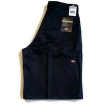 Dickies Men's Loose Fit Multi-Pocket Twill Work Shorts Black Size 38 Inseam 13