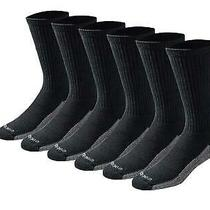 Dickies Men's Multi-Pack Dri-Tech Moisture Control Crew Socks Black Size 6.0 Photo
