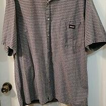 Dickies Men's Plaid Short Sleeve Shirt -  Black/ Gray - Xl  Photo