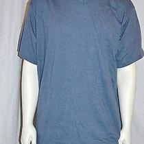 Dickies Men's Short Sleeve v-Neck Top Tee Heather Blue 2xl Photo