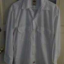 Dickies Men's White Dress /work Long Sleeve Shirt Sm. Cotton Polyester Photo