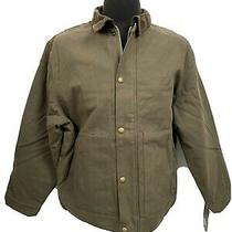 Dickies Mens Sanded Duck Jacket Sherpa Lined Xl Brown New Work Farm Outdoor Coat Photo
