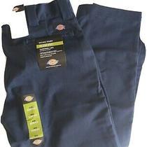 Dickies Mens Work Pants Slim Fit Tapered Leg Work Pants Wp830 36x30 Navy Nwt  Photo