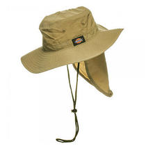 Dickies Nylon Khaki Mesh Explorer Hat Sun Block Visor Uv Travel Hunting Hike Photo