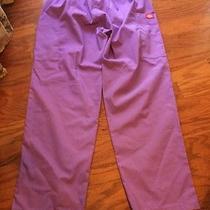 Dickies Purple Scrub Pants Large Photo