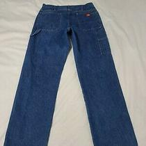 Dickies Relaxed Fit Carpenter Denim Blue Work Jeans Mens Size 36 X 34 - M6143 Photo