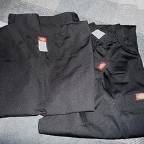 Dickies Scrubs Nwt Never Worn Black Top 3xl and Pants 2xl Photo