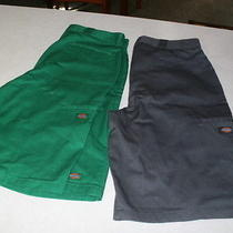 Dickies Shorts Green/new/grey/like New/ Size 36 13inch Photo