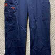 Dickies Signature Tapered Leg Navy Blue Size Medium Style 86106 Cargoscrub Pants Photo
