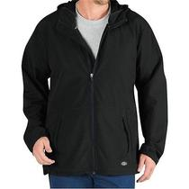 Dickies Sj700 Black Softshell Lightweight Hooded Jacket New With Tags Large Photo