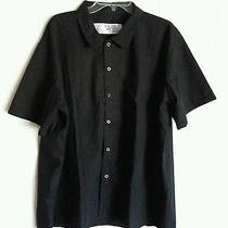 Dickies Snap Front Economy Chef Kitchen Shirt Size 2xl . Black. Photo