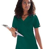 Dickies Style 815906 Mock Wrap Scrub Top in