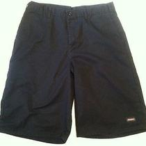 Dickies Sz 34  Men's Black Cotton  Casual  Shorts Tape34 X 12 Photo