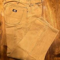 Dickies Tan Work Pants Men Size 38 X 32 Carpenter Heavy Duty Jeans Photo
